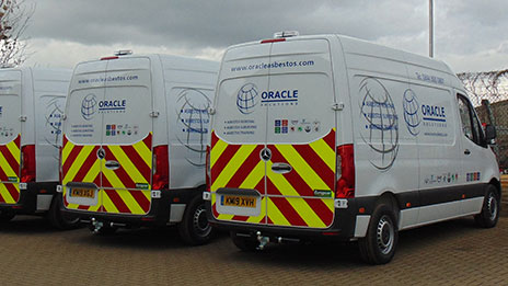 Oracle take delivery of a new bespoke fleet of asbestos removal vans