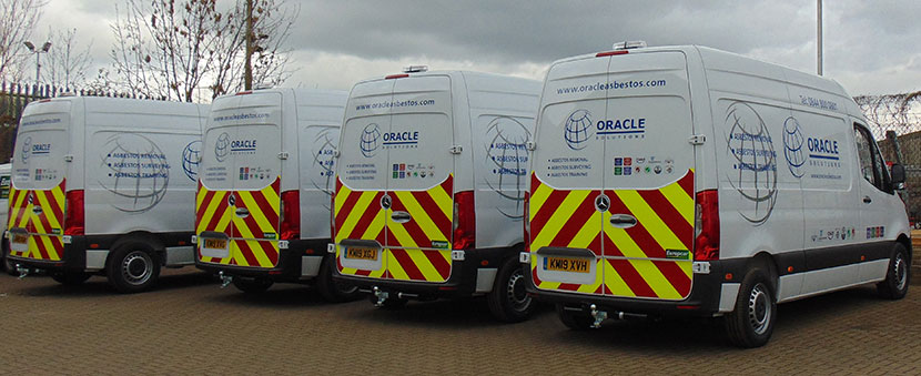 Oracle take delivery of a new bespoke fleet of asbestos removal vans 1