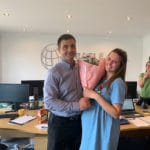Oracle Solutions congratulate a valuable team member on parenthood!