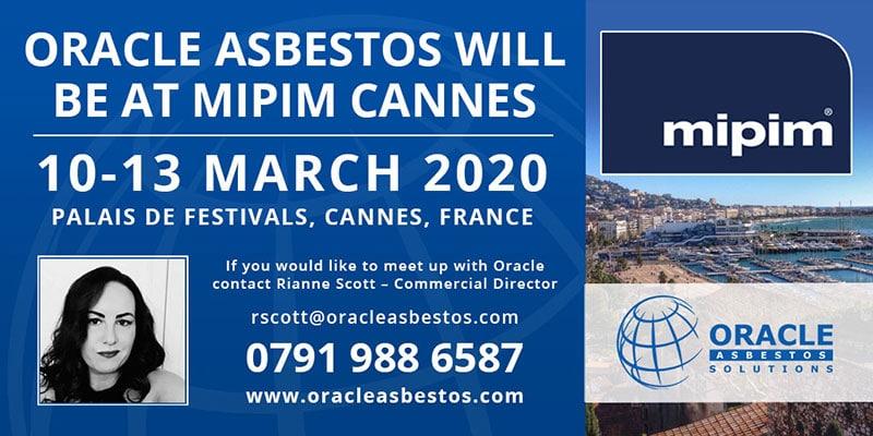Oracle Asbestos Attending MIPIM 2020 2