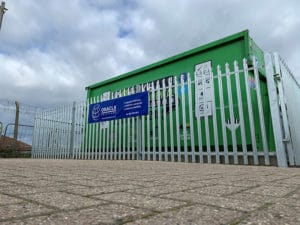 recycling centres waste collection skip