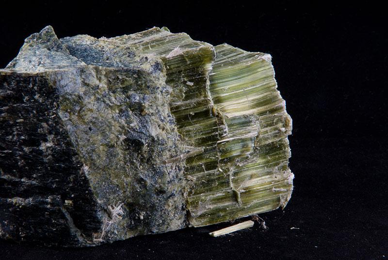 asbestos in rock sample