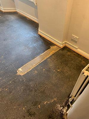 asbestos bitumen floor removal